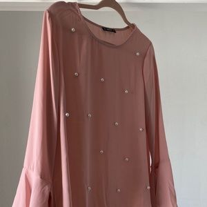Tops - Pink and pearled top